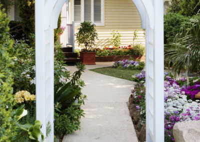 Garden entrance during spring in Toowoomba