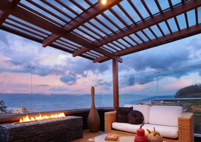 deck and pergola with a view